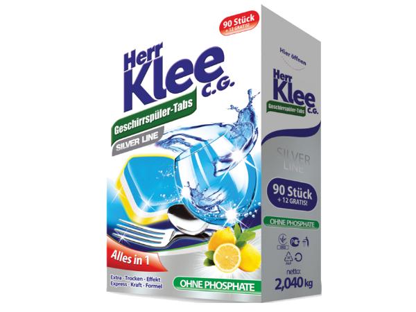 Tablety do myčky Herr Klee 90+12 ks ZDARMA